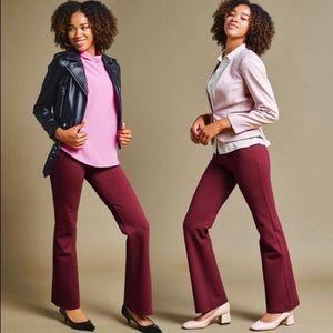 Betabrand Dress Pant Yoga Pants Boot-Cut Classic